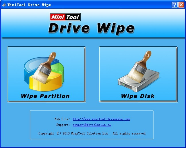 MiniTool Drive Wipe is a Free Disk Wipe soft.